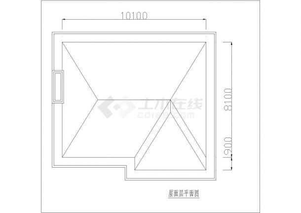 三亚市某度假区3层砖混结构单体别墅平面设计CAD图纸(含效果图)-图一
