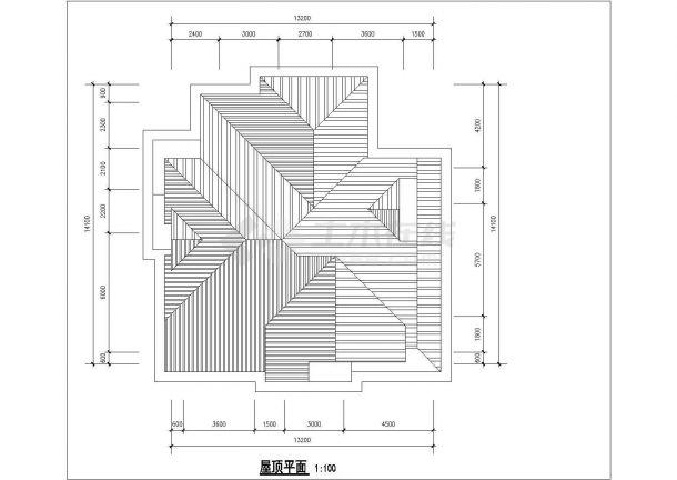 西安杨凌示范区某村镇315平米3层混合结构单体别墅平面设计CAD图纸-图一