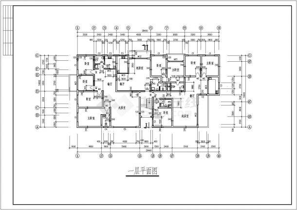 花园住宅楼建筑设计方案图-图一