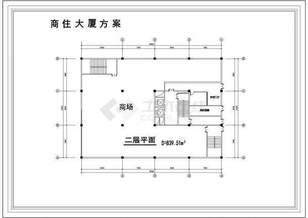 某商住楼全套建筑设计方案图-图二