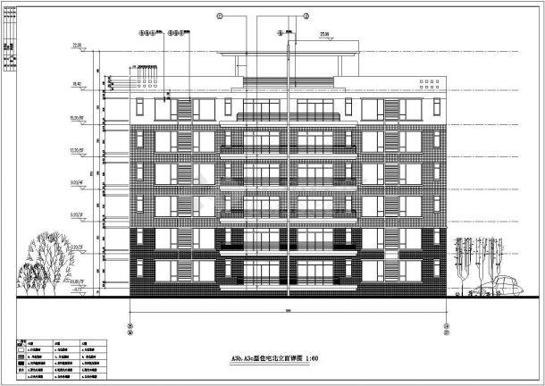大型住宅楼全套建筑设计方案图-图一