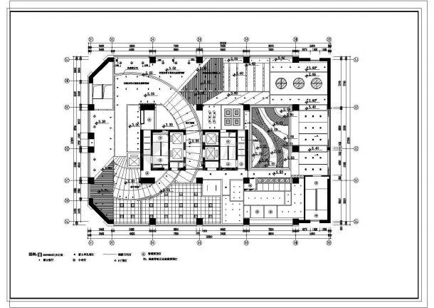 某地豪华公寓会所建筑设计图纸-图一