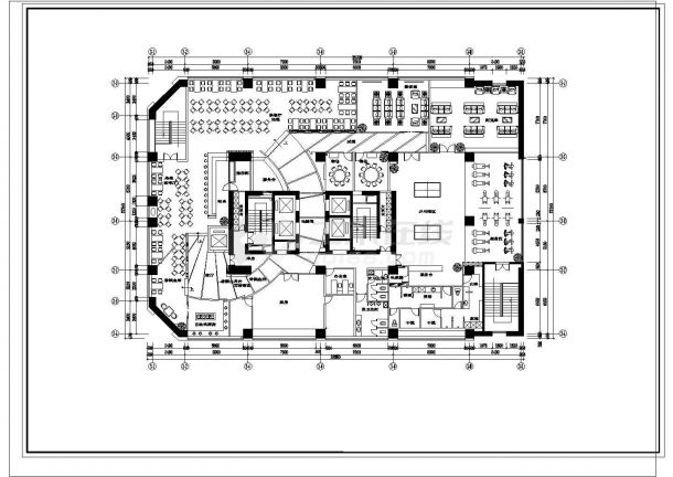 某地豪华公寓会所建筑设计图纸-图二