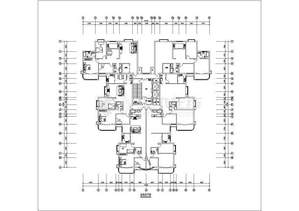 某地点式精美户型结构设计图纸-图一