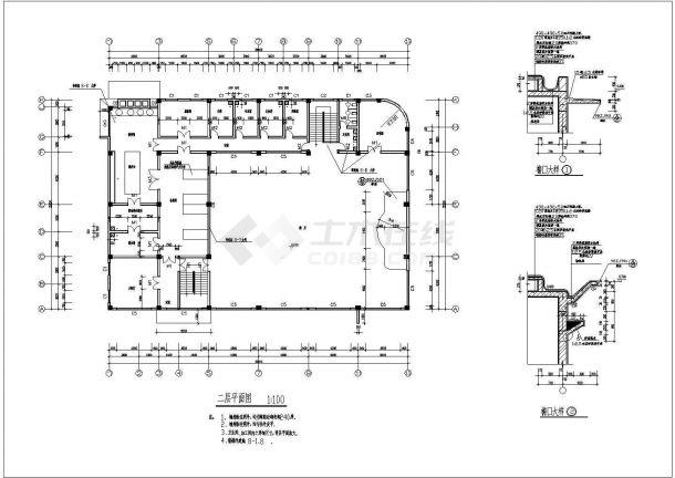 苏州某地2层餐厅全套建筑施工设计cad图【平立剖 节点大样 楼梯卫生间平面】-图一
