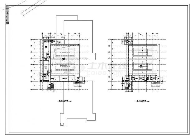 -1+4层体育馆建筑全套设计施工图-图一