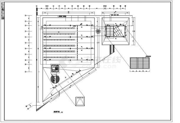 -1+4层体育馆建筑全套设计施工图-图二