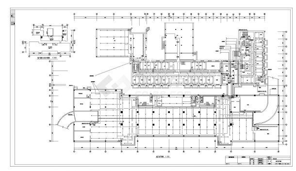 某机关高层办公楼给排水工程CAD图纸-图一