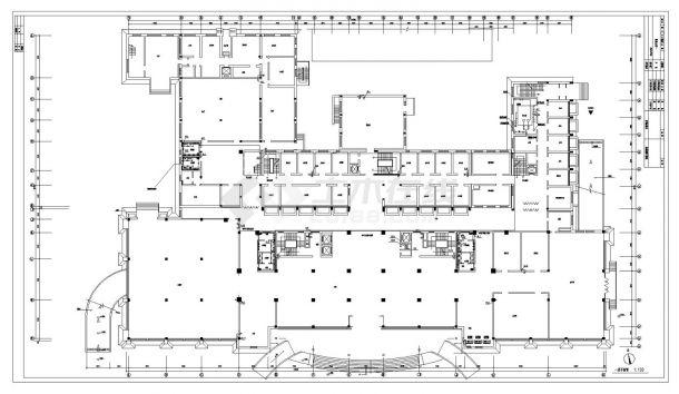某机关高层办公楼给排水工程CAD图纸-图二