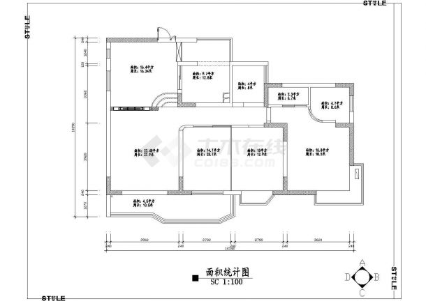 三室家居室内装修设计方案图-图一