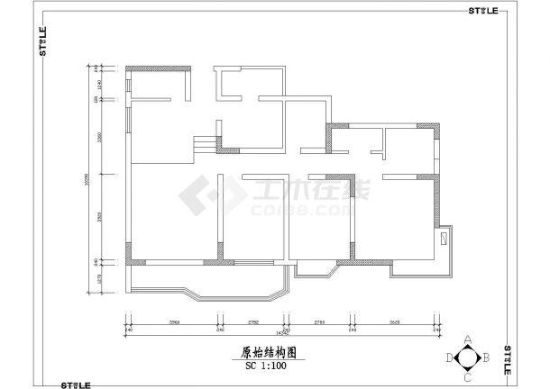 三室家居室内装修设计方案图-图二