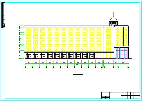 【5层】4700平米办公楼cad毕业设计(施组、计算书、建筑、结构图)-图一