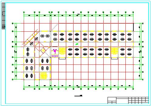 【5层】4700平米办公楼cad毕业设计(施组、计算书、建筑、结构图)-图二