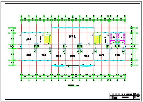 【5层】5000平米框架办公cad毕业设计(计算书、部分建筑、结构图)-图一