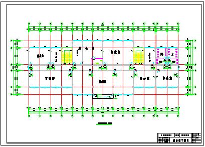【5层】5000平米框架办公cad毕业设计(计算书、部分建筑、结构图)-图二