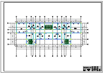 【6层】4465.00平米框架行政办公楼cad毕业设计(含计算书,建筑结构图)-图一
