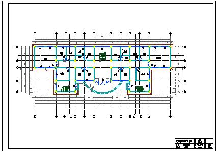 【6层】4465.00平米框架行政办公楼cad毕业设计(含计算书,建筑结构图)-图二