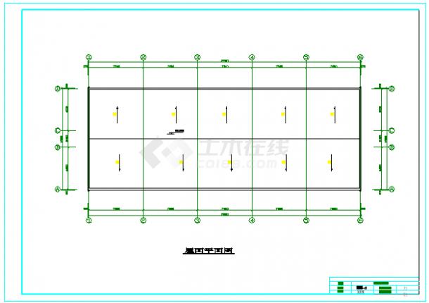 【7层】4119平米框架办公楼cad毕业设计(计算书、部分建筑、结构图纸)-图一