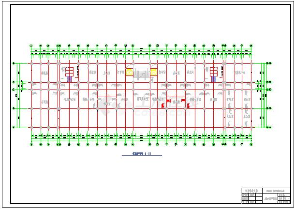 【7层】8500平米主体七层裙房六层框架办公楼cad毕业设计(含计算书、开题报告、建筑结构图、PKPM模型)-图二