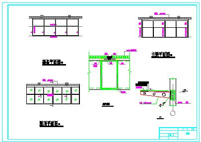 【8层】9405.47平米一字型框架办公楼cad施工组织设计(含建筑图、结构图、计算书)-图一