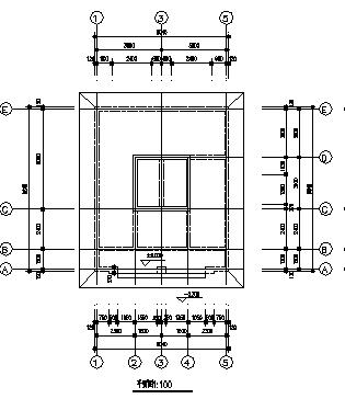 80平米某单层砖混结构公用厕所建筑施工cad图_公用厕所施工-图一