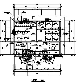 某单层砖混结构公厕施工cad图_公厕施工-图二