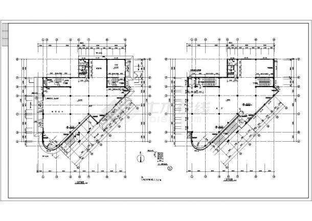 某高档小区精品住宅楼全套建筑设计方案cad图-图二
