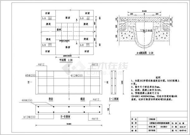 某农田水利灌溉工程设计cad全套施工图纸-图一