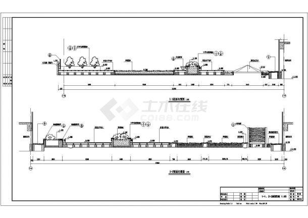 某多层住宅楼屋顶花园绿化规划设计cad全套施工图(标注详细)-图一