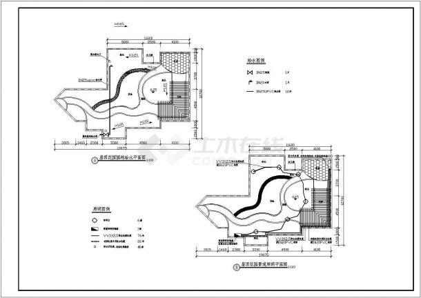 某私人别墅屋顶花园景观绿化规划设计cad全套施工图-图二