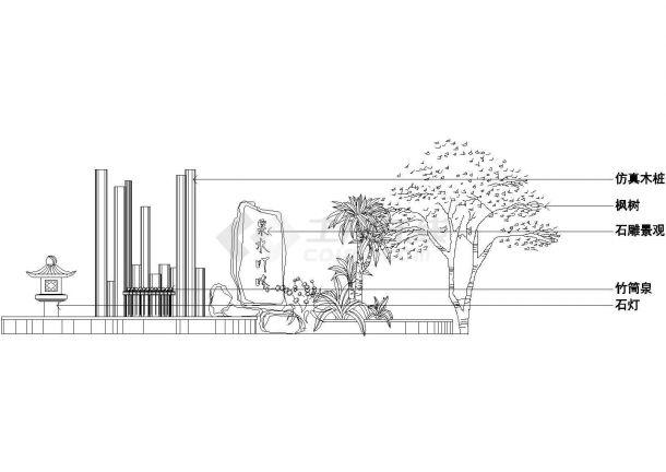 某多层住宅楼屋顶花园绿化规划设计cad施工平面图(甲级院设计)-图一