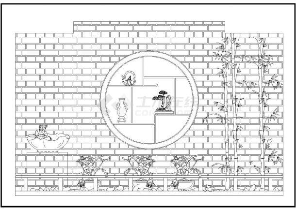 某多层住宅楼屋顶花园绿化规划设计cad施工平面图(甲级院设计)-图二