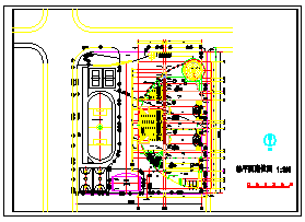 某小学平剖面建筑设计cad施工图-图一
