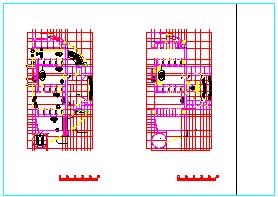 某小学平剖面建筑设计cad施工图-图二