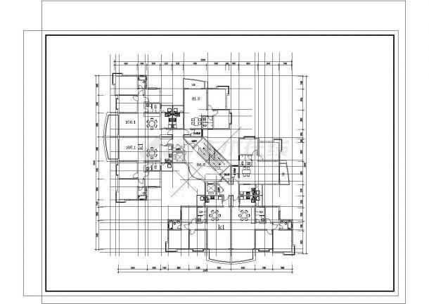 某地住宅经典户型结构设计图纸-图一