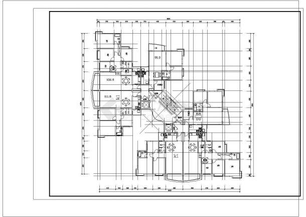 某地住宅经典户型结构设计图纸-图二