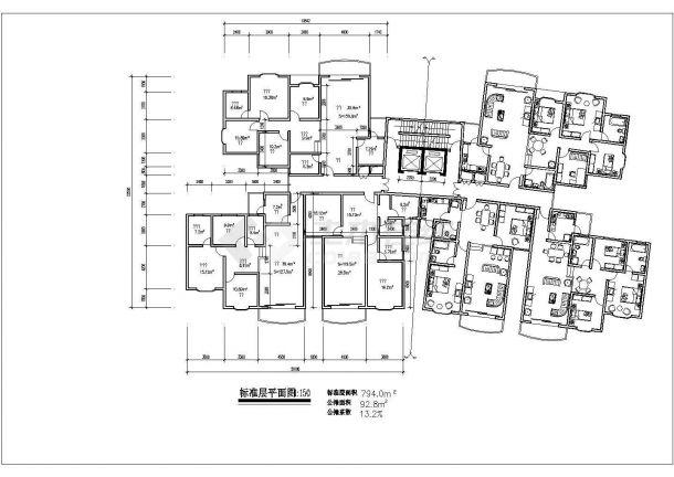某地多套住宅经典户型结构设计图纸-图一