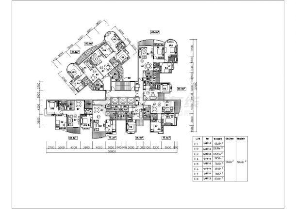 某地多套住宅经典户型结构设计图纸-图二