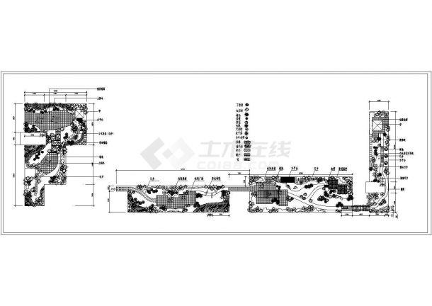 某现代风格小高层住宅楼屋顶花园景观绿化规划设计cad施工平面图-图一
