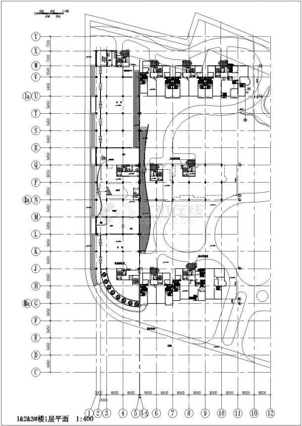 某上海市城市花园小区住宅楼建筑施工图纸-图二