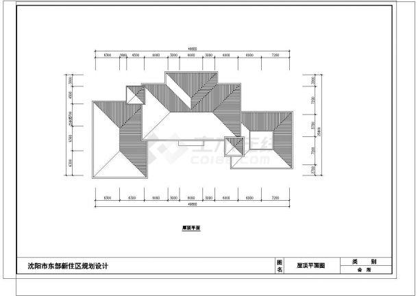 某沈阳市住宅楼建筑施工图纸-图一