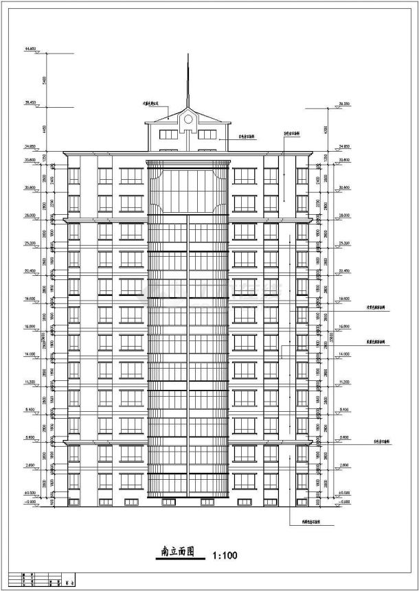 某地多层豪华公寓建筑施工图纸-图一