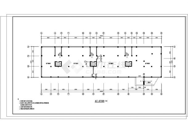某地公寓2号住宅楼建筑施工图纸-图一