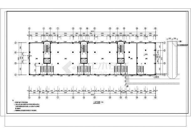 某地公寓2号住宅楼建筑施工图纸-图二