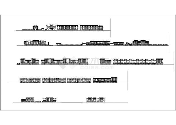 某地多层特色住宅楼建筑施工图纸-图一