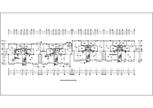 某市小型高层商住楼建筑施工图纸-图二