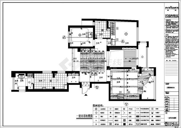 公园内部住宅楼全套施工设计cad图纸(含效果图)-图二