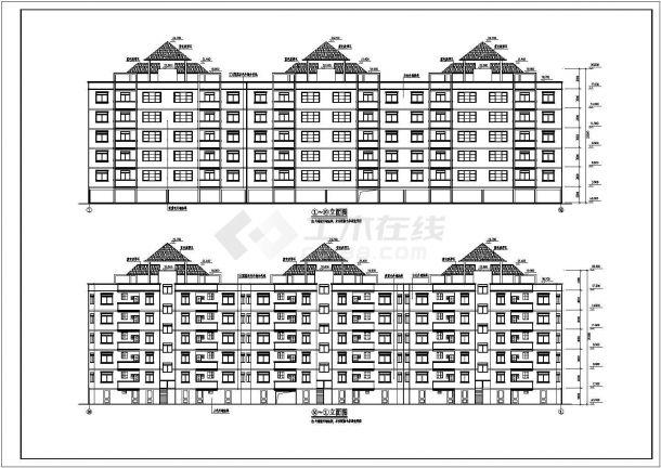 某市小型住宅楼建筑施工图纸-图一