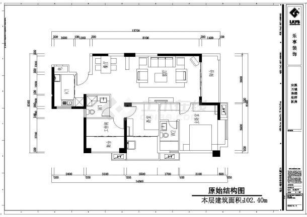 某房地产现代样板房全套施工设计cad图纸(含效果图)-图一