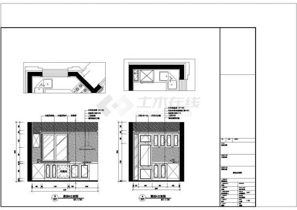 欧式风格多层别墅全套设计施工cad图(附效果图)-图一